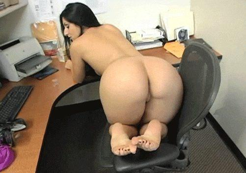 Sexy butt on the office chair