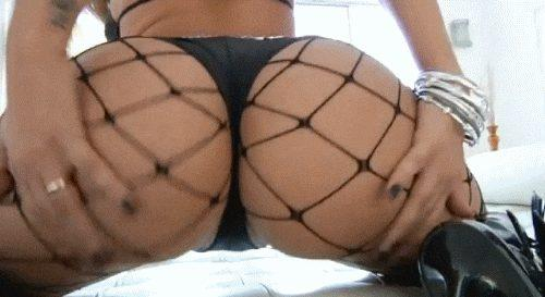Big fit ass in sexy lingerie