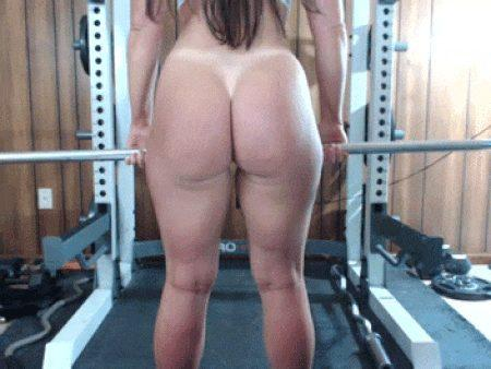 Butt naked weightlifting