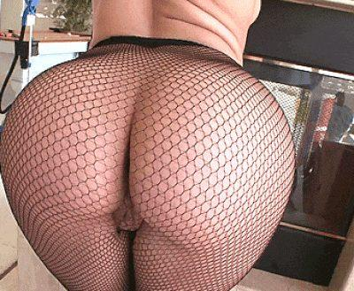 Big Butt in hot Fishnets